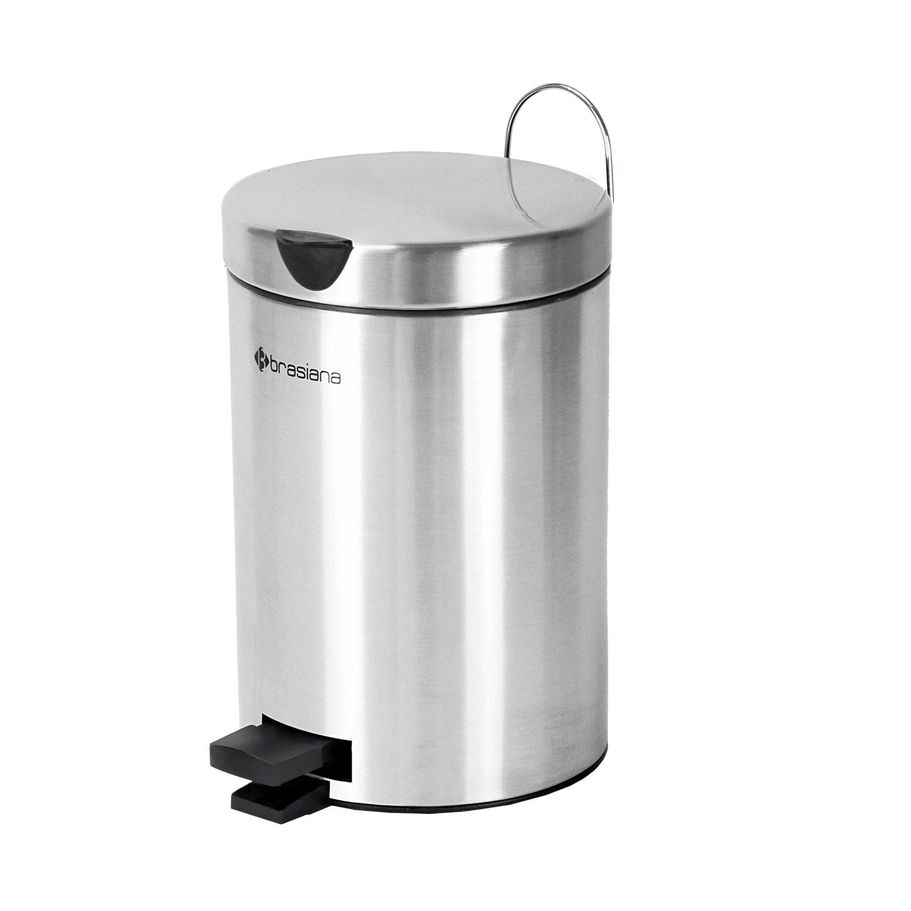 سطل زباله پدالی 3 لیتری Brasiana با درب آرام بند