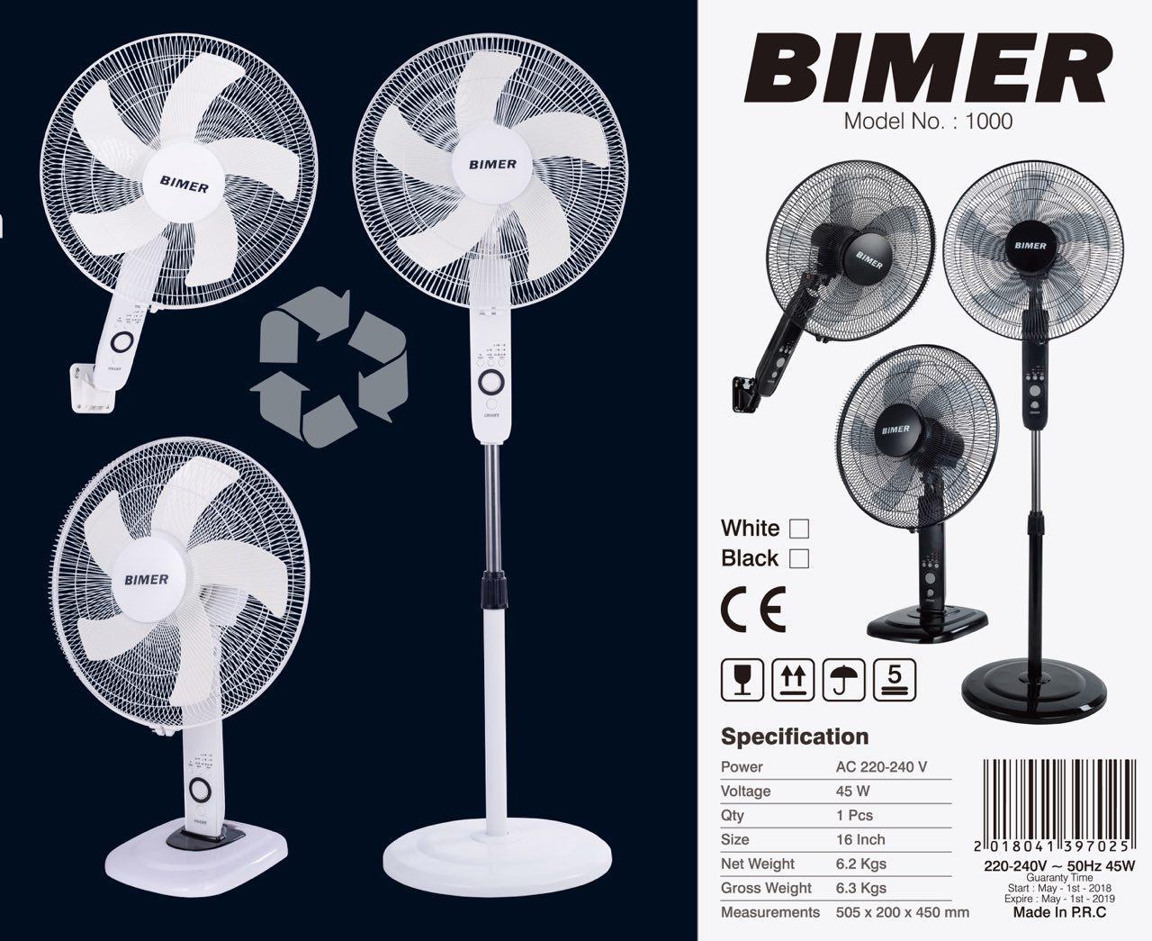 پنكه سه کاره با کنترل BIMER مدل 1000