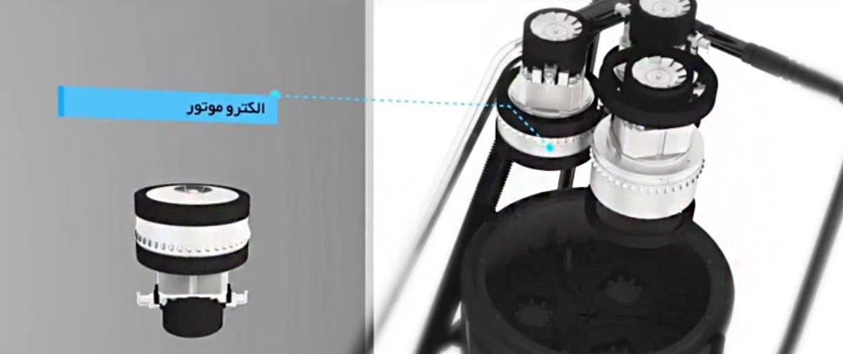 جاروبرقی صنعتی سه موتوره ماموت اتوماتیک سری (آاگ ) AEG