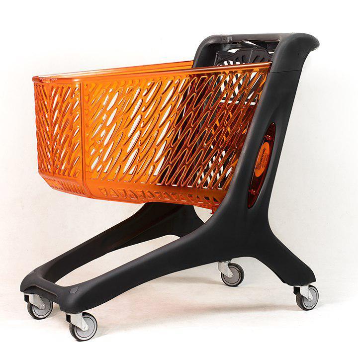چرخ خرید فروشگاهی 160 لیتری پلی کربنات